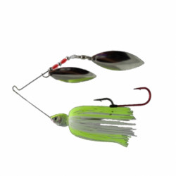 Spinnerbait Baitfishing white chatreuse 1/2 Oz