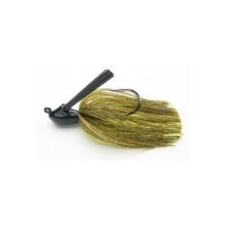 Keitech Rubber Jig Model - Green Pumpkin / Chartreuse 1/2 oz 14gr .
