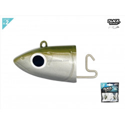 Black Minnow 90 - 2 Off Shore jig head - 10g - kaki 2 und x blister