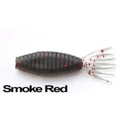 Longasbaits Tiny shad Smoke Red 3""