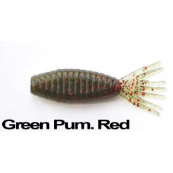 "Longasbaits Tiny Shad 3"" Green Pum. Red ."